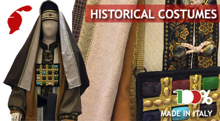 Theatrical costumes, roman armor, costumes for historical corteges